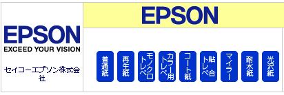 エプソン(EPSON)ロール紙プリンター対応表